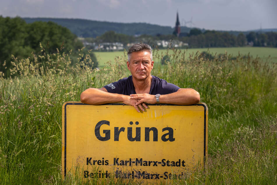 Ortsvorsteher Lutz Neubert (48, Freie Wählergemeinschaft) möchte mit seinem Ortsteil wieder selbstständig werden - wie es Grüna zu DDR-Zeiten schon war.
