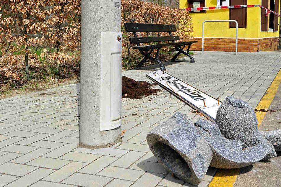 Vierte Attacke in sechs Wochen: Vandalen wüten bei der Chemnitzer Parkeisenbahn