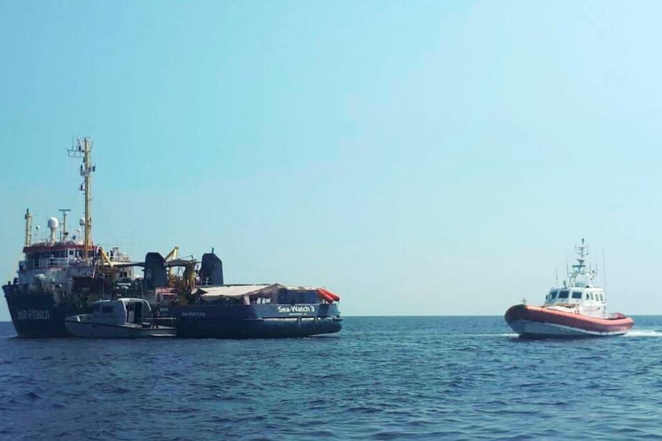 Carola Rackete hatte mehrere Flüchtlinge an Bord der Sea-Watch-3.