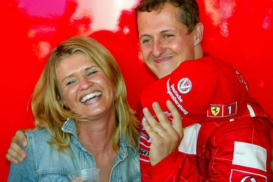 Michael Schumacher mit seiner Ehefrau Corinna (Archivbild).