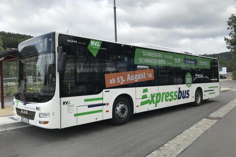 Der Expressbus verbindet das Erzgebirge und Chemnitz auf dem kürzesten Weg miteinander.