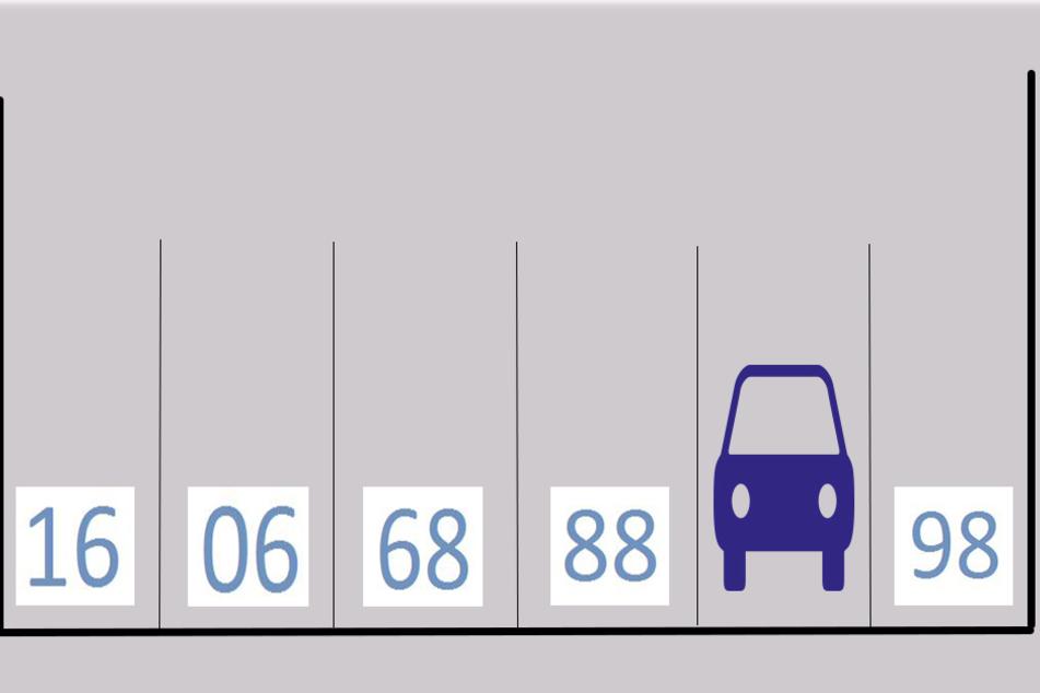 Welche Nummer versteckt sich unter dem geparkten Auto?