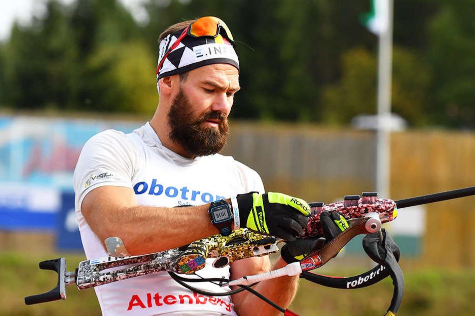 Michael Rösch (35) hadert mit seinen Schießleistungen.