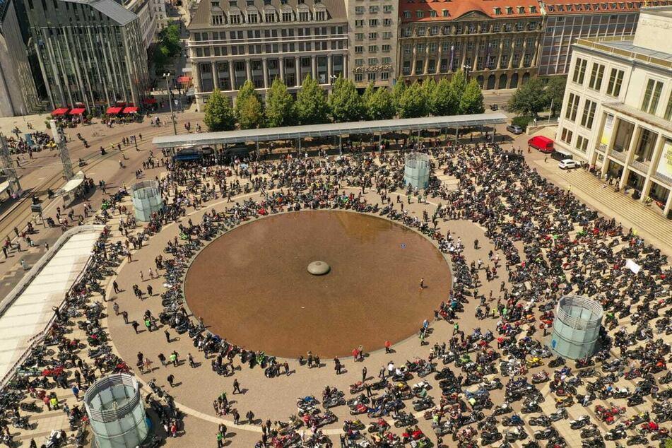 Über 16.000 Biker sollen in Leipzig unterwegs gewesen sein.