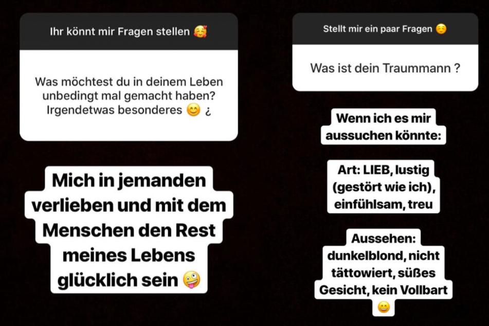 Sabrina beantwortet regelmäßig Fragen ihrer Fans auf Instagram.