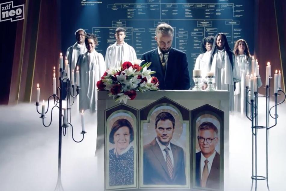 """Jan Böhmermann nahm singend Abschied von seiner Sendung und """"huldigte"""" seinem Arbeitgeber ZDF."""