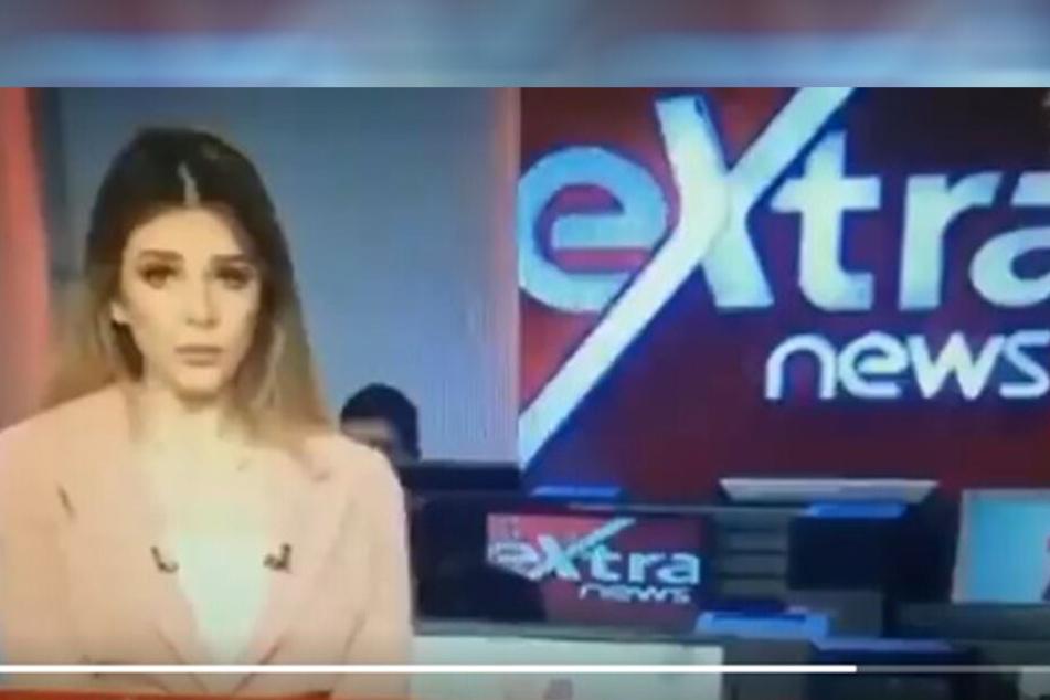 Die TV-Moderatorin war beim Vorlesen offenbar nicht ganz bei der Sache.