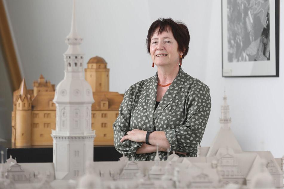 Professor Rosemarie Pohlack (65) im Landesamt für Denkmalpflege in Dresden.