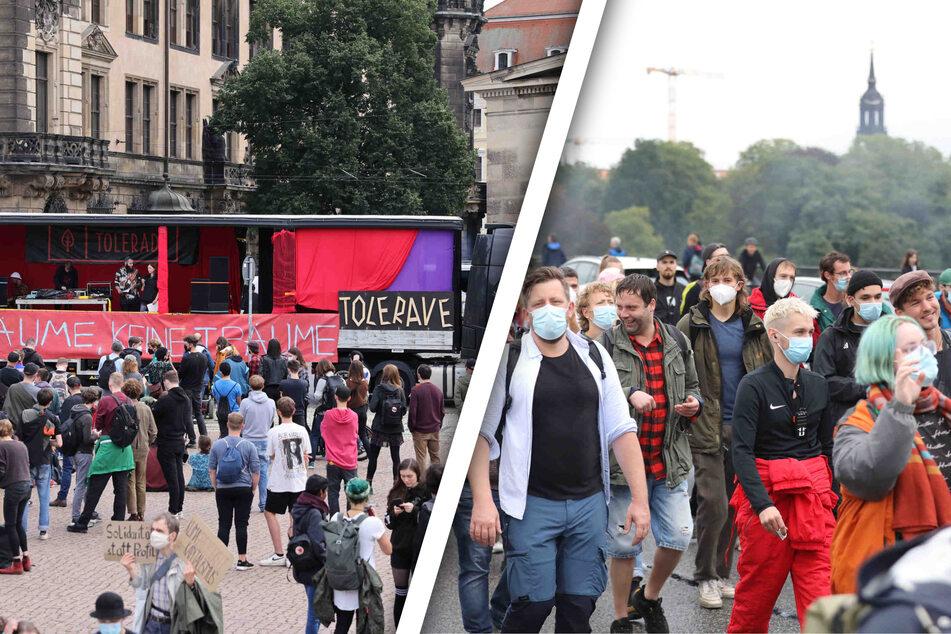 """Dresden: """"Tolerade"""" in Dresden: Parade der Vielfalt tanzt und demonstriert gegen rechts"""