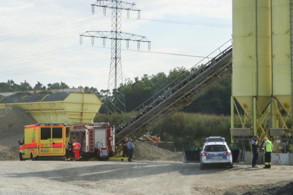 Der Unfallort auf der Baustelle an der Abfahrt Radeburg.