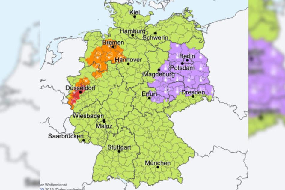 Für den Osten Deutschlands gab der Deutsche Wetterdienst (DWD) eine Hitzewarnung heraus.