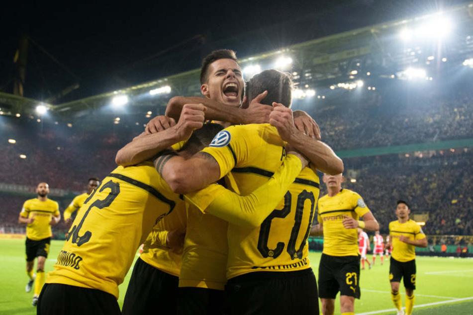 Am Ende konnte sich Dortmund den Zittersieg sichern.