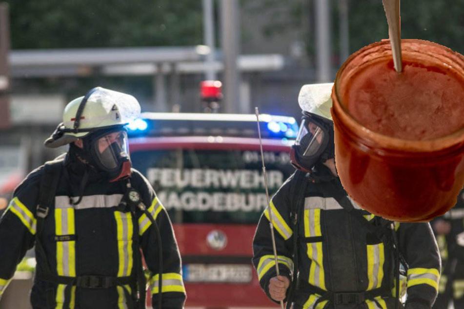 Der verdächtige Inhalt stellte sich als zuckersüße Erdbeermarmelade heraus. (Symbolbild).