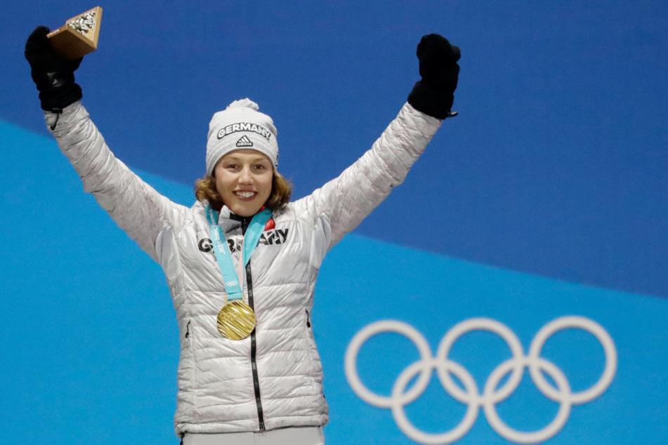 Wird erneut jubeln dürfen! Laura Dahlmeier holte am Montag ihr zweites Gold.