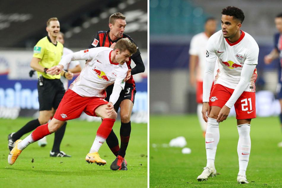 Weder Alexander Sörloth (24, l.) noch Justin Kluivert (21, r.) sind bei RB Leipzig bislang eingeschlagen.