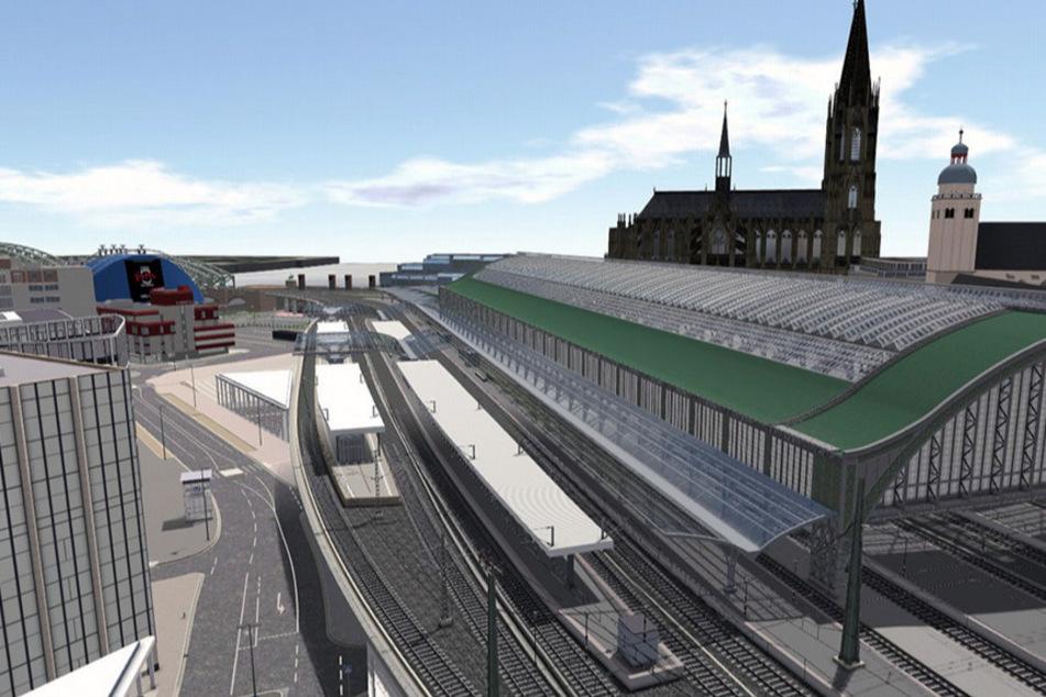 Der Ausbau der Fassade soll mit dem Bau der zwei weiteren S-Bahn-Gleisen erfolgen.
