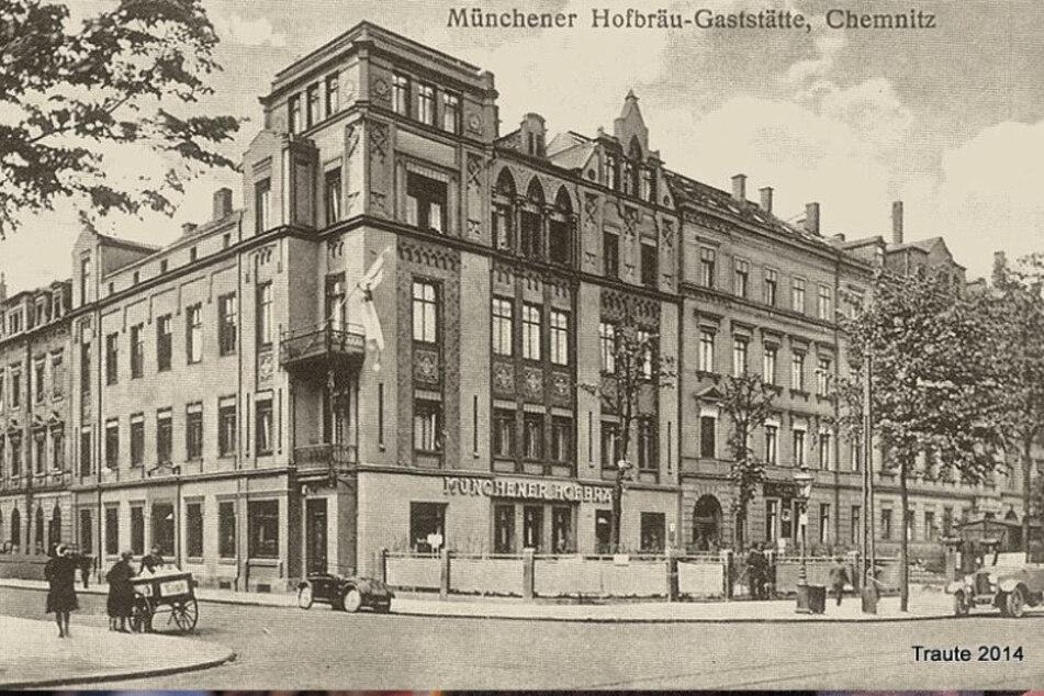 So schön war das Chemnitzer Hofbräuhaus vor rund 90 Jahren. Eine Postkarte erinnert an das Juwel.