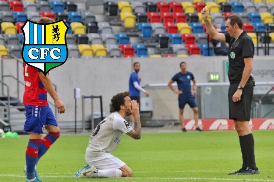 """""""Das tut sehr weh!"""" CFC-Torjäger Hosiner verpasst nach 10. Gelbe Abstiegskrimi in Zwickau"""