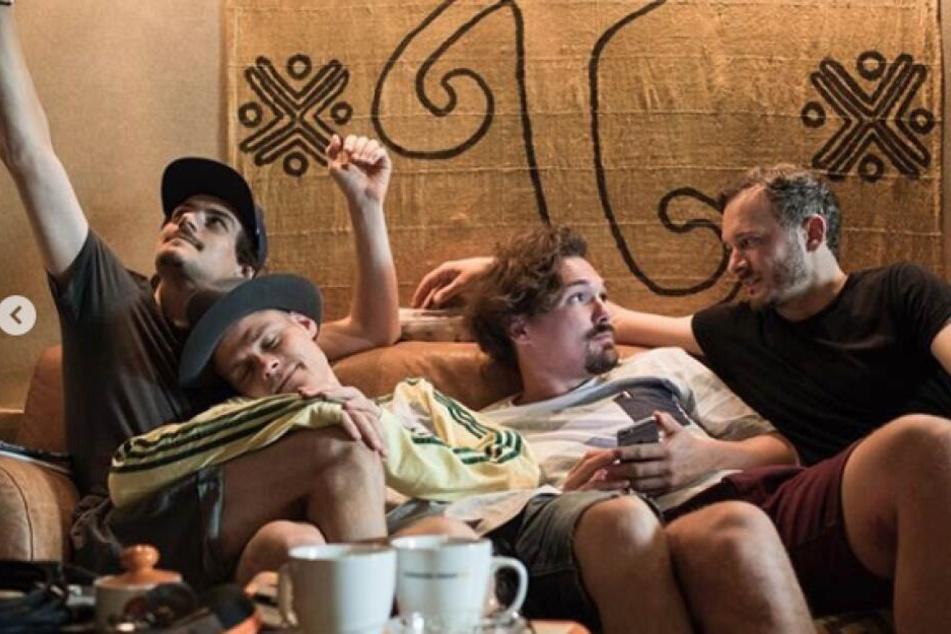 """""""Cat Ballou"""" mit Kevin Wittwer (v.l.), Oliver Niesen, Dominik Schönenborn und Hannes Feder."""