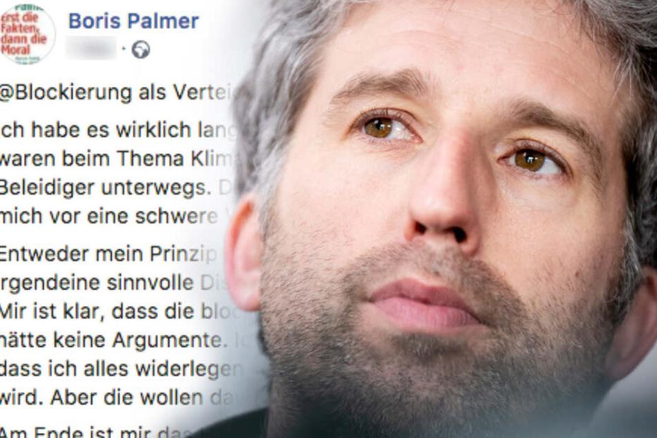 Zankapfel Klimawandel: Darum sperrt Boris Palmer dutzende Facebook-User