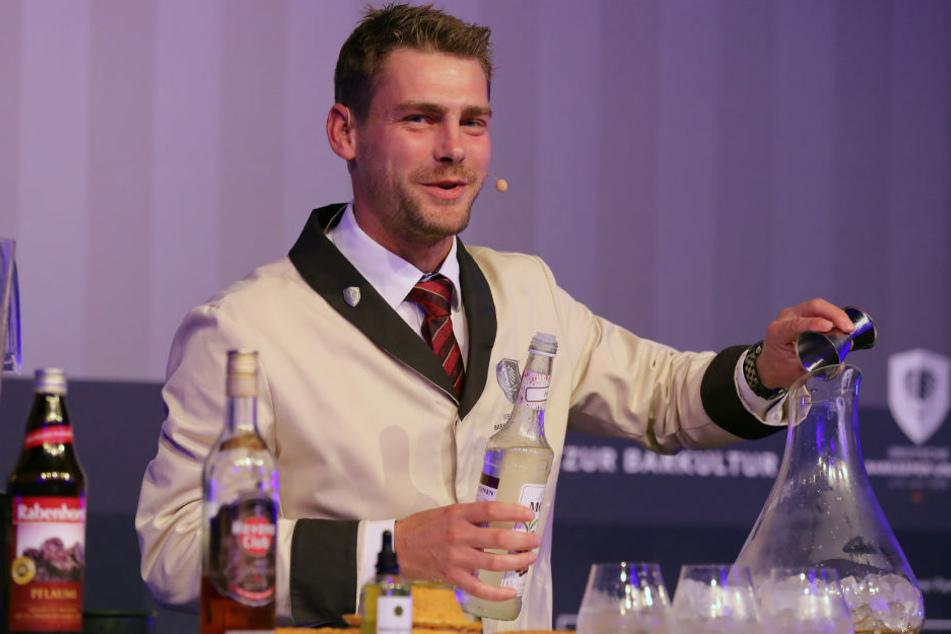 Martin Rosch aus Zeulenroda landete auf Platz vier bei den Cocktailmeisterschaften.