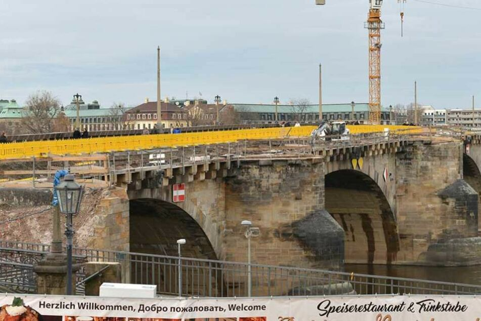 Sanierung der Augustusbrücke dauert wohl länger