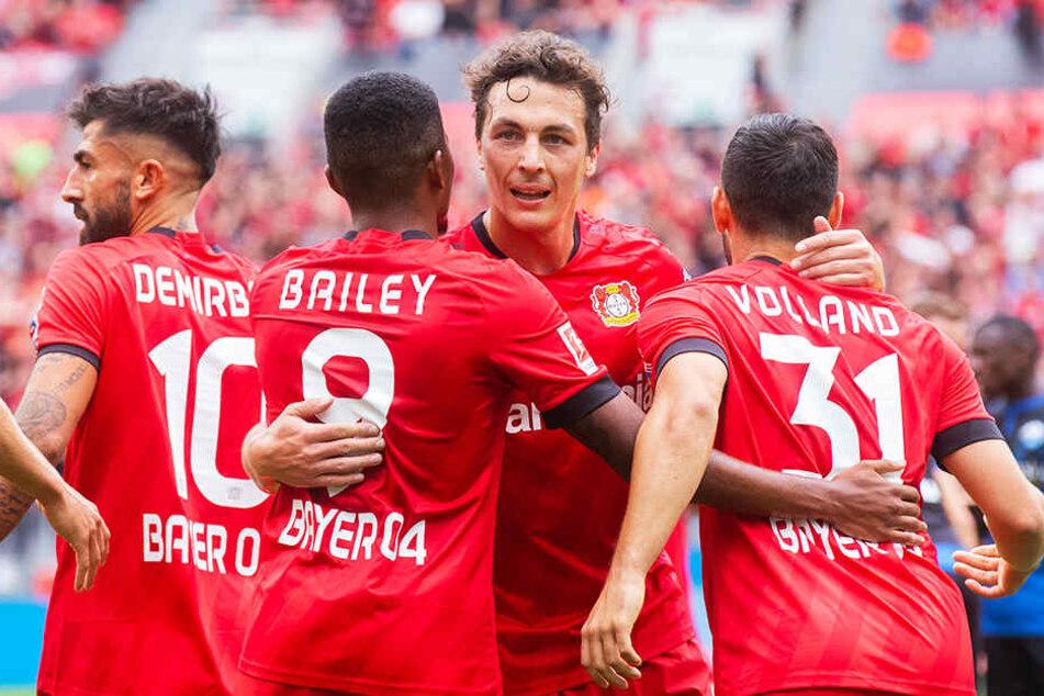 Am Ende durfte Bayer Leverkusen einen knappen 3:2-Erfolg feiern.