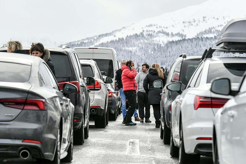 Für viele Reisende ging es auf der Brennerautobahn weder vor noch zurück.