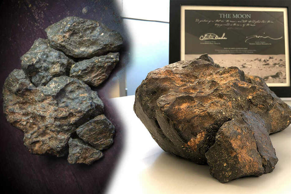 Asteroiden & Meteoriten: Stück vom Mond versteigert: Unbekannter zahlt mehr als eine halbe Million Euro