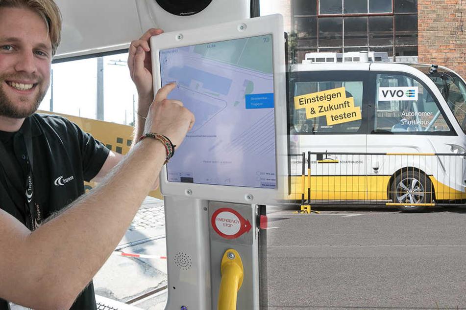 """DVB testen """"Geisterbusse"""": Wie sicher ist das Fahren ohne Fahrer?"""