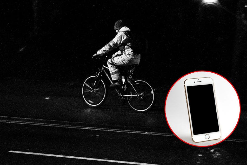 Finger weg vom Handy, während der Fahrradfahrt!
