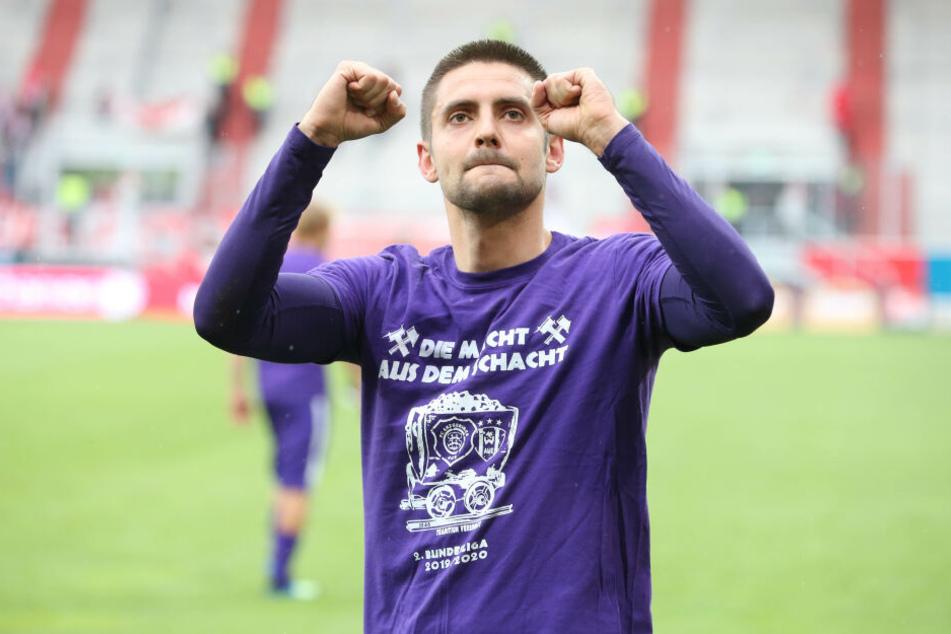 Dimitrij Nazarov war in der ersten Halbzeit der Dreh- und Angelpunkt beim Testspiel gegen Hertha BSC.