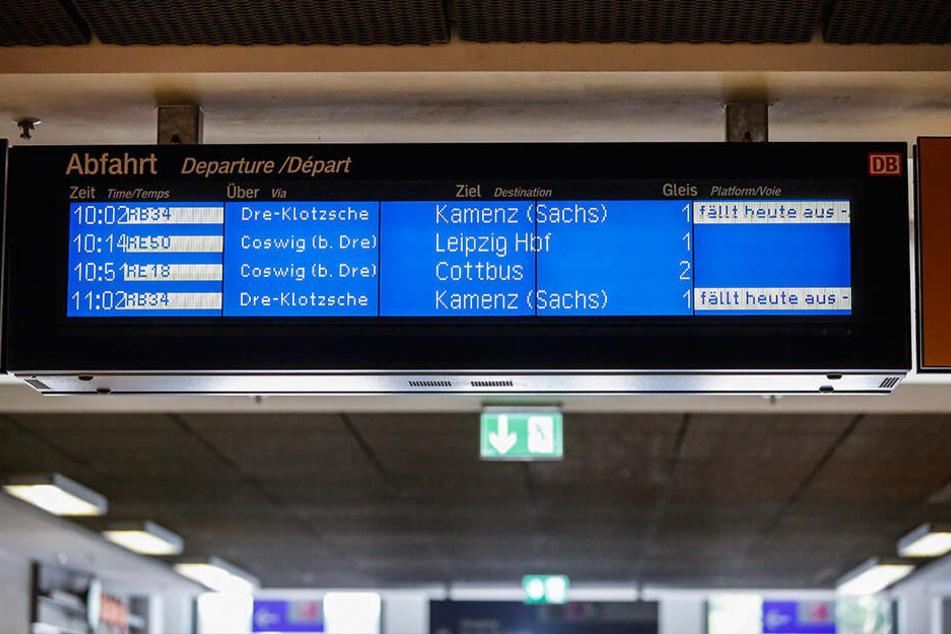 Viele Pendler wurden kalt erwischt - wie hier am Dresdner Hauptbahnhof.