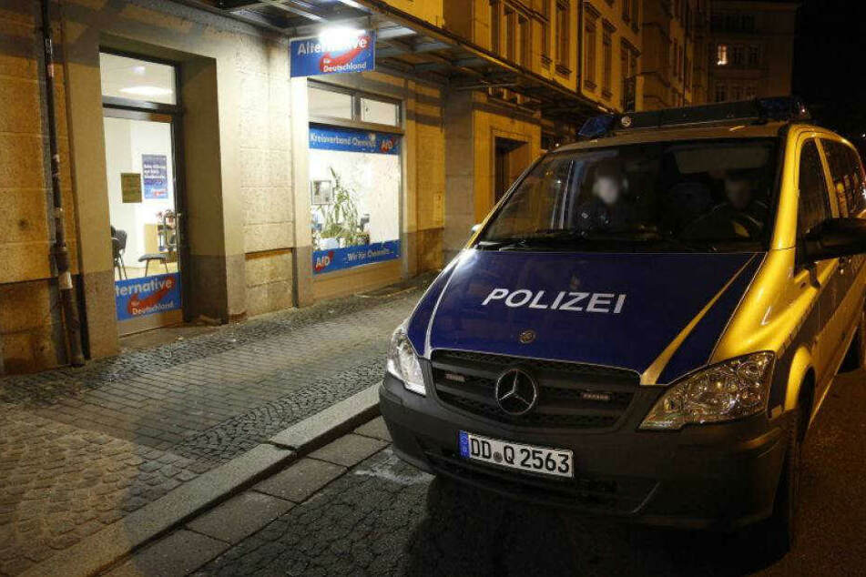 In der Nacht gab es einen Anschlag auf das AfD-Büro in der Theaterstraße in Chemnitz (Archivfoto).
