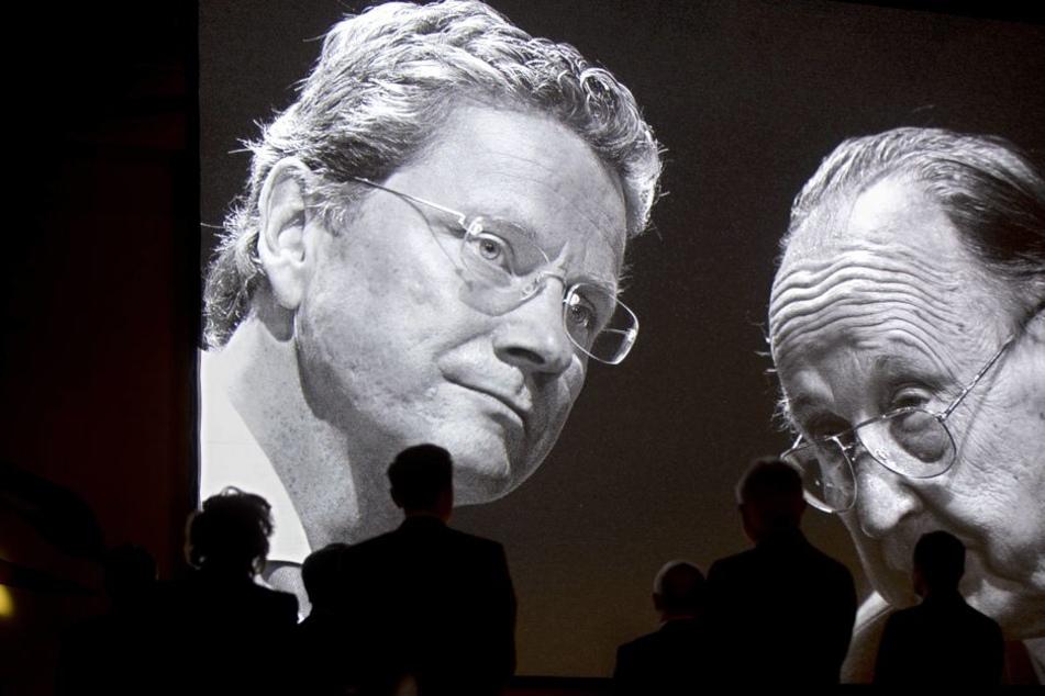 Zwei bekannte FDP-Politiker, die 2016 von uns gingen: Guido Westerwelle (l.) und Hans-Dietrich Genscher (re.).