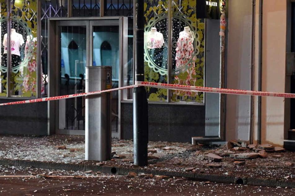 In Wellington gingen aufgrund des Erdbebens viele Scheiben zu Bruch, die Fassade der Häuser bröckelte.