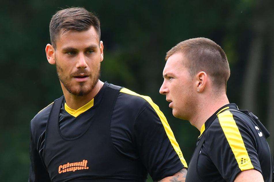Kollegen unter sich. Dario Dumic (l.) und Haris Duljevic kennen sich bereits aus der bosnischen Nationalmannschaft.