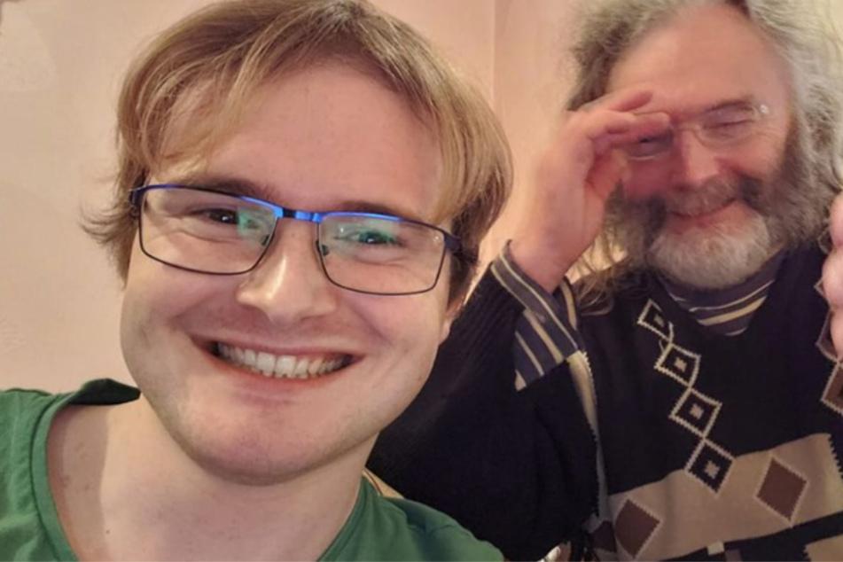 Endlich wiedervereint: Jason Kelly (23) und sein Vater David (67).