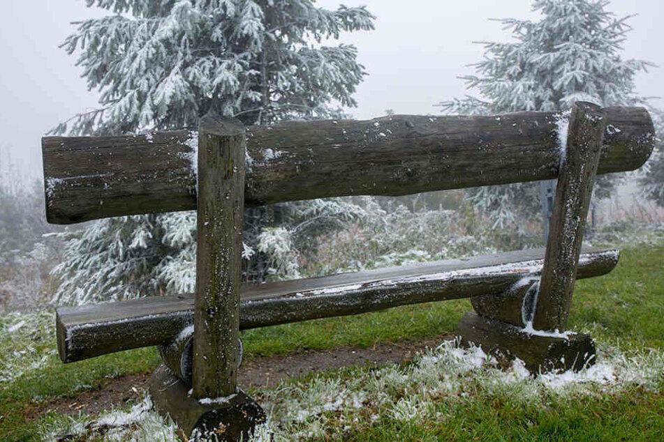 Frostig war es am Mittwoch auf dem Fichtelberg.