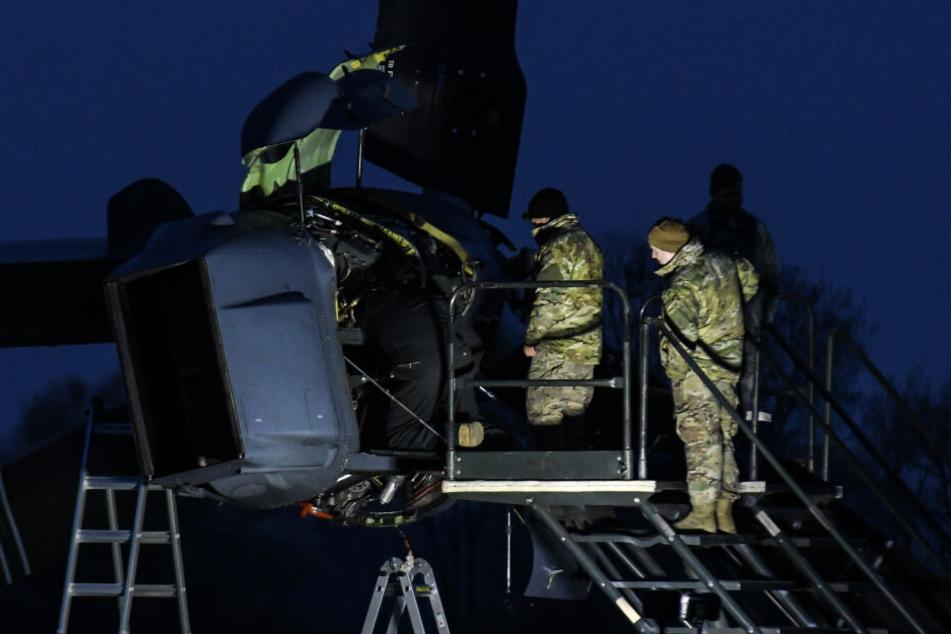 Kaputte US-Airforce-Maschine wird an mitteldeutschem Flughafen repariert