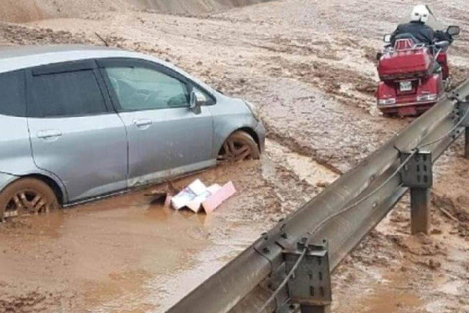 In den sozialen Netzwerken wurden zahlreiche Bilder der Naturkatastrophe veröffentlicht.