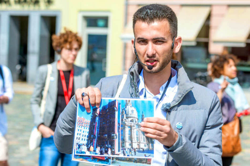 """""""Spannend und berührend!"""" Flüchtlinge führen durch ihr Dresden"""
