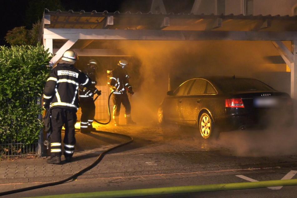 Audi A6 brennt lichterloh: Polizei ermittelt wegen Brandstiftung