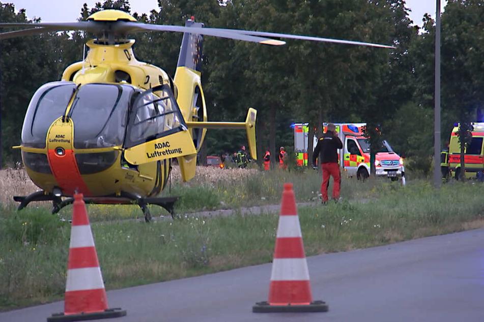 Mehrere Krankenwagen und ein Rettungshubschrauber waren im Einsatz.