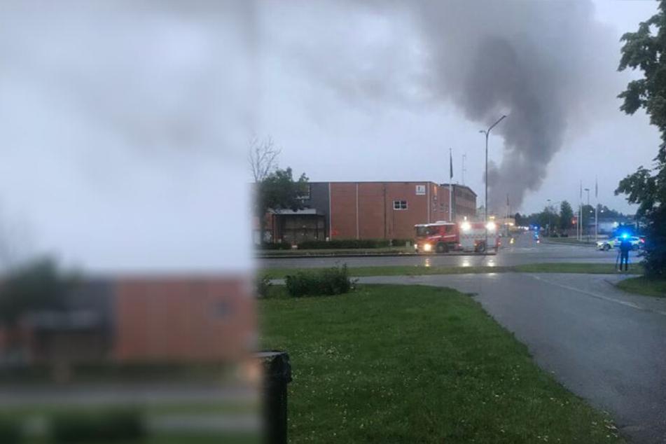 Der Nachtclub in Örebro brannte lichterloh und wurde komplett zerstört.