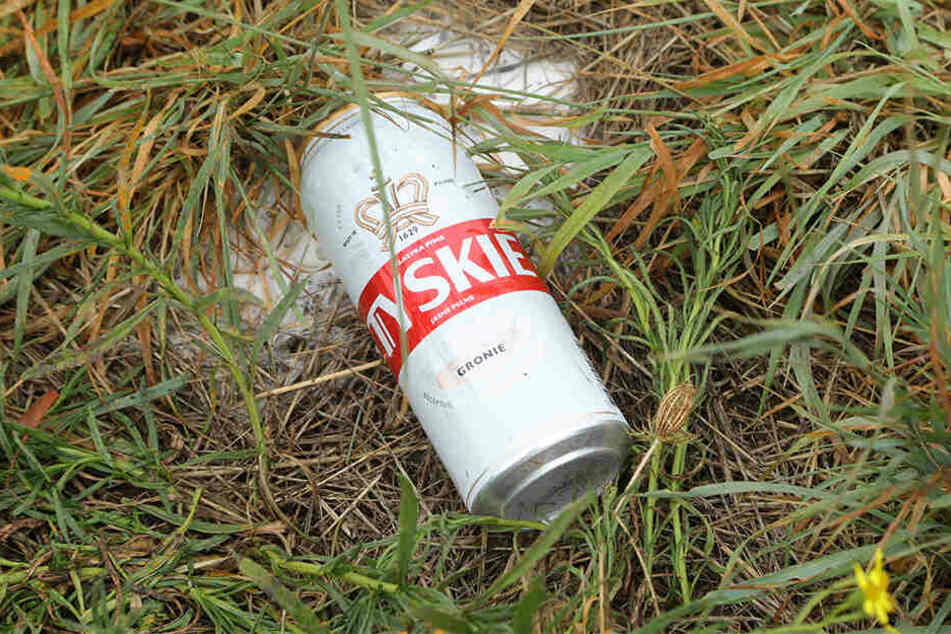 """Das gute polnische Bier """"Tyskie"""" ist viel zu schade zum Versickern..."""