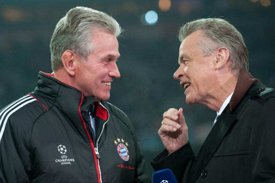 Jupp Heynckes und Ottmar Hitzfeld wollen die Trainer-Frage früh geklärt wissen. (Archiv)