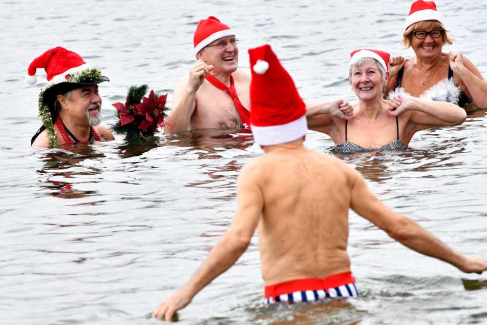 Trotz kalter Temperaturen haben die Teilnehmer jede Menge Spaß.