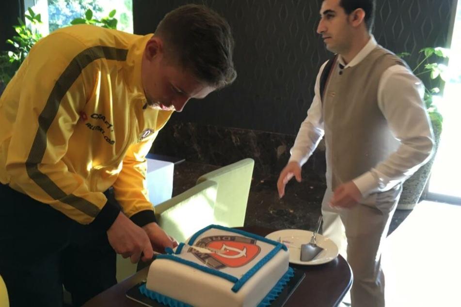 Für Jannik Müller gab's zum Mittag eine Torte.