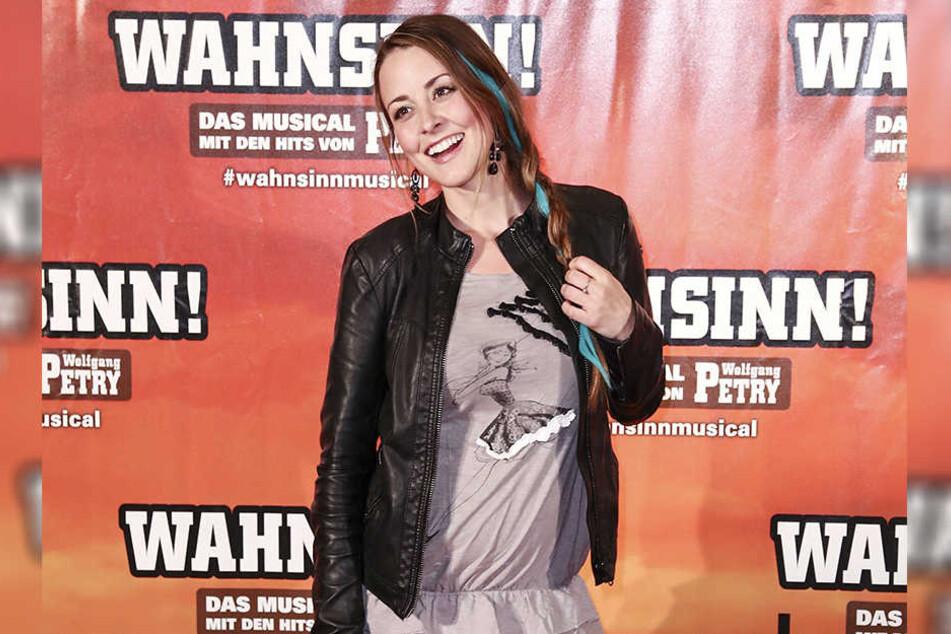 """Bei der Premiere des Musicals """"Wahnsinn"""" im Mai war ein Bäuchlein schon zu erkennen."""
